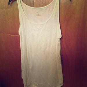 Jennifer Lopez Large white shiney dress tank top